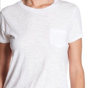 Madewell White patch pocket T-shirt, Sz Med